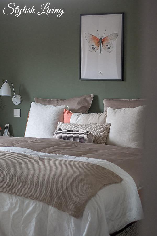 Schlafzimmer Makeover mit OTTO Wohndecke , Kissen und Bettwäsche