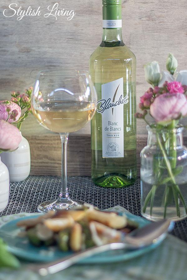 Bärlauchgnocchi mit Spargel und Blanchet Weinbegleitung