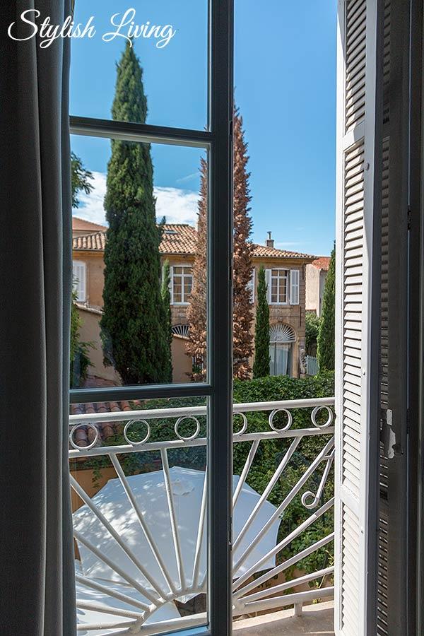 Blick aus dem Schlafzimmer im Maison Du Collectionneur in-Aix-en-Provence