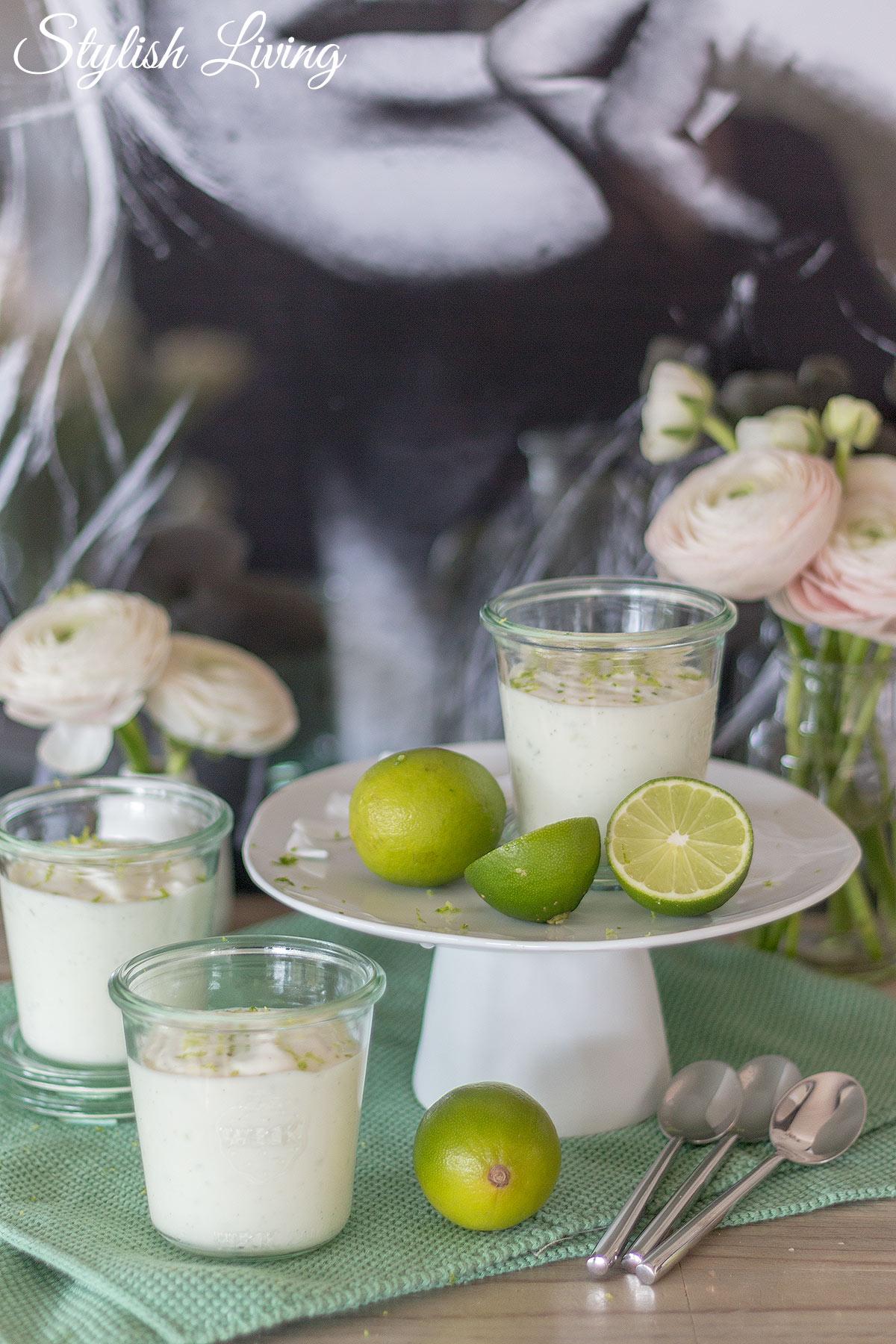 Joghurt-Limetten-Mousse mit Vanillenote