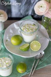 Limettenmousse mit Joghurt und Sahne