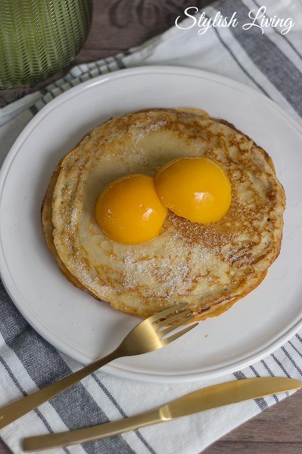 weltbester Pfannkuchen | Eierkuchen mit Pfirsich
