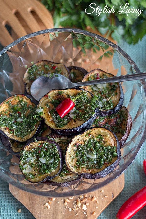 marinierte Auberginen aus der Levante Küche