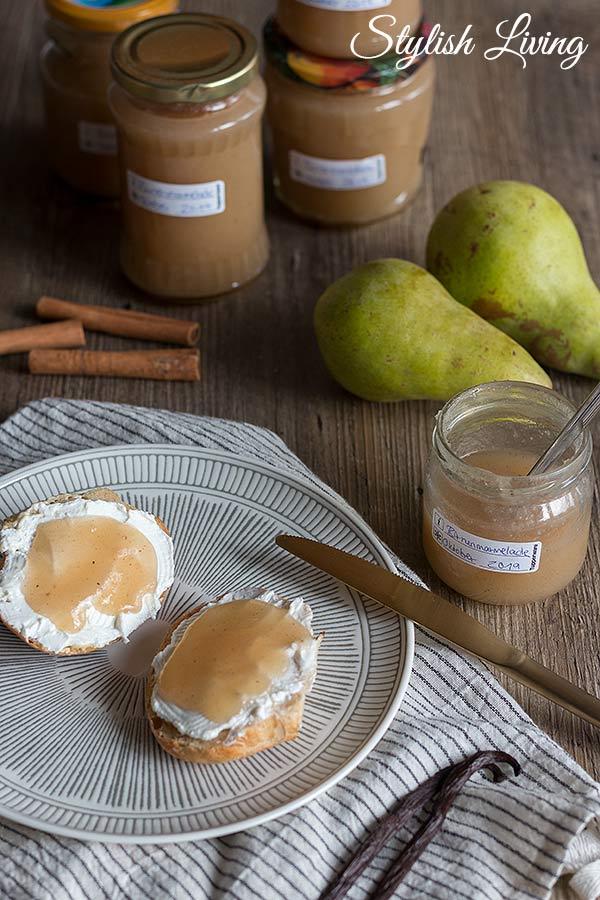 Birnenmarmelade mit Zimt und Vanille