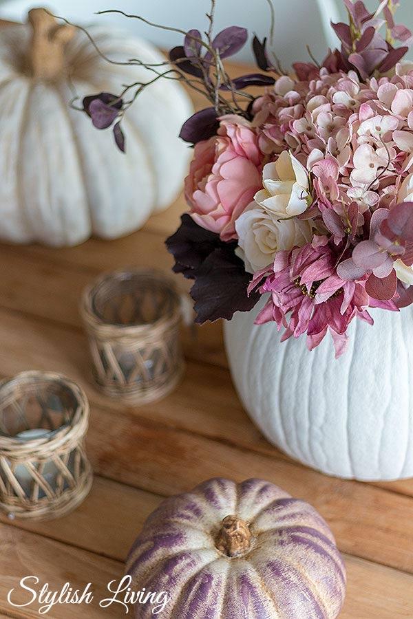 DIY Herbstdeko -Kürbis als Vase
