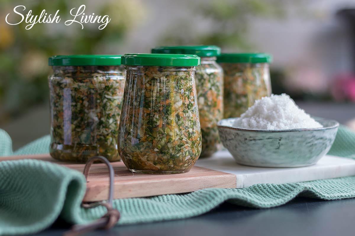 Gemüsepaste mit Suppengrün selbstgemacht