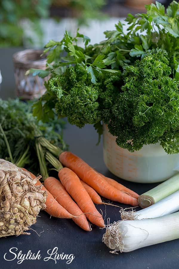 Zutaten selbstgemachte Gemüsepaste
