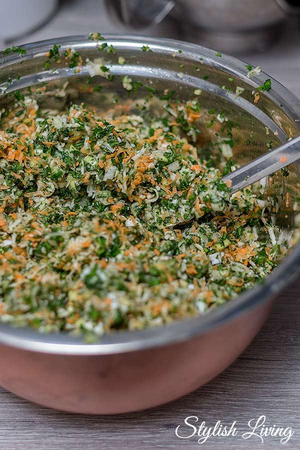 selbstgemachte Gemüsepaste zubereiten