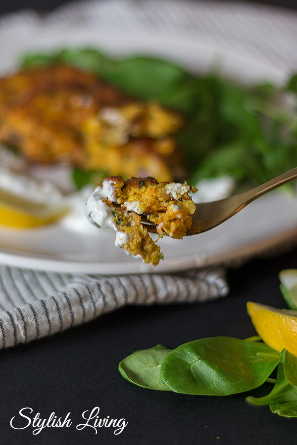 Kichererbsen-Karotten-Bratlinge mit Feta