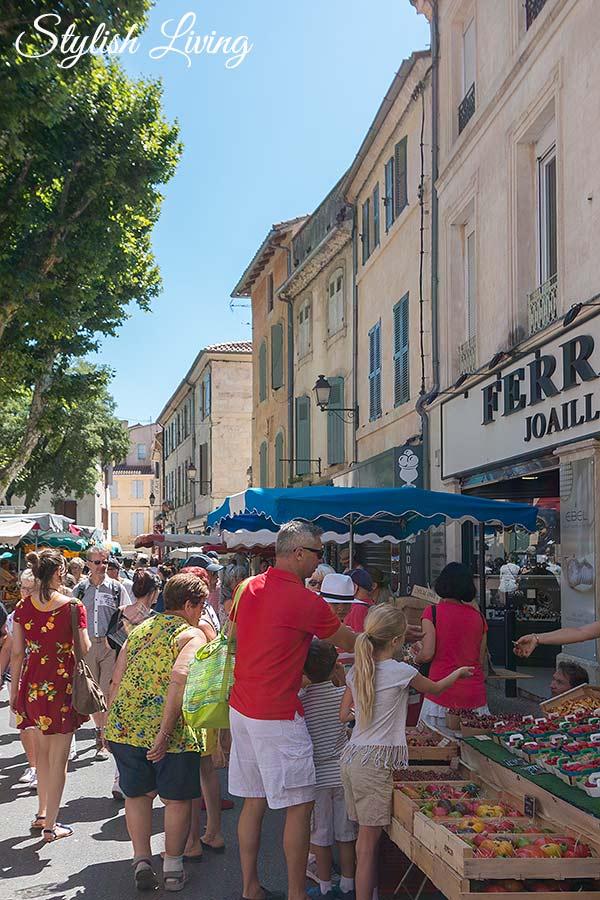 Auf dem Markt von Saint-Rémy-de-Provence