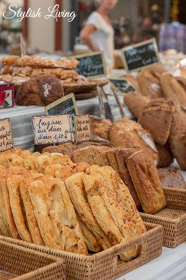 Brot auf dem Markt von Saint-Rémy-de-Provence