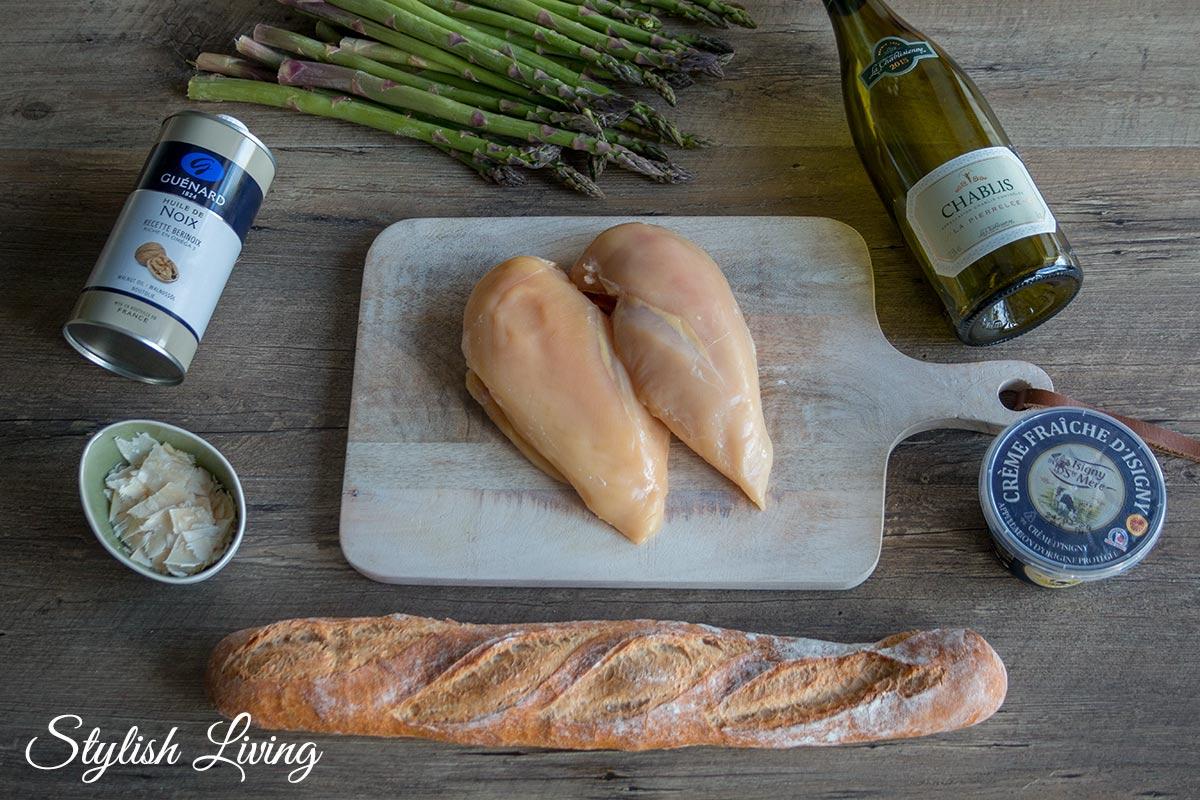Zutaten Coq au Vin mit grünem Spargel - Vive le Frühling