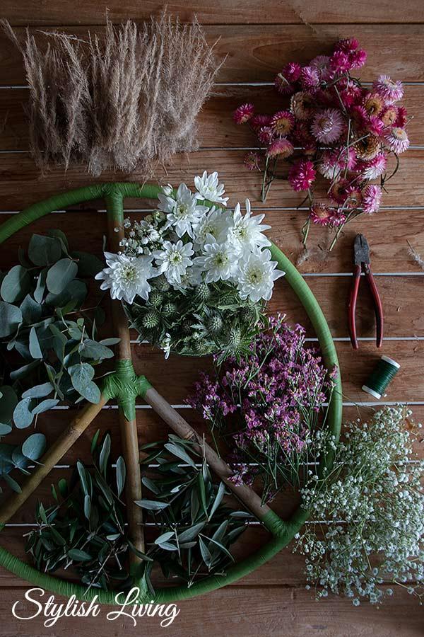 Blumen Zubehör Peacezeichen Blumenkranz