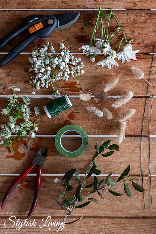 Zubehör Blumen Haarkranz