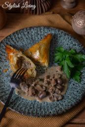 Kalbfleisch Rezepte für das Weihnachtsmenü: Kalbsragout im Blätterteig