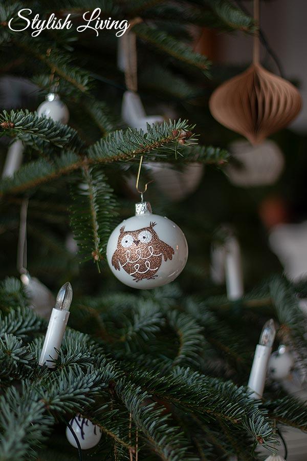 Weihnachtsbaumschmuck Eule
