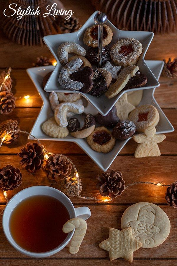 Weihnachtsplätzchen in der Weihnachtsbäckerei